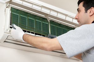 Ductless mini-split installation