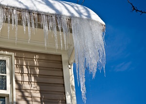 Frozen gutters & ice damming