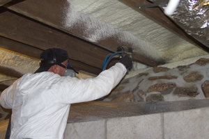 Spray foam insulation in Commack