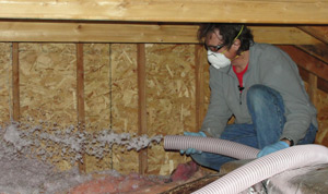 Fiberglass insulation installed New York